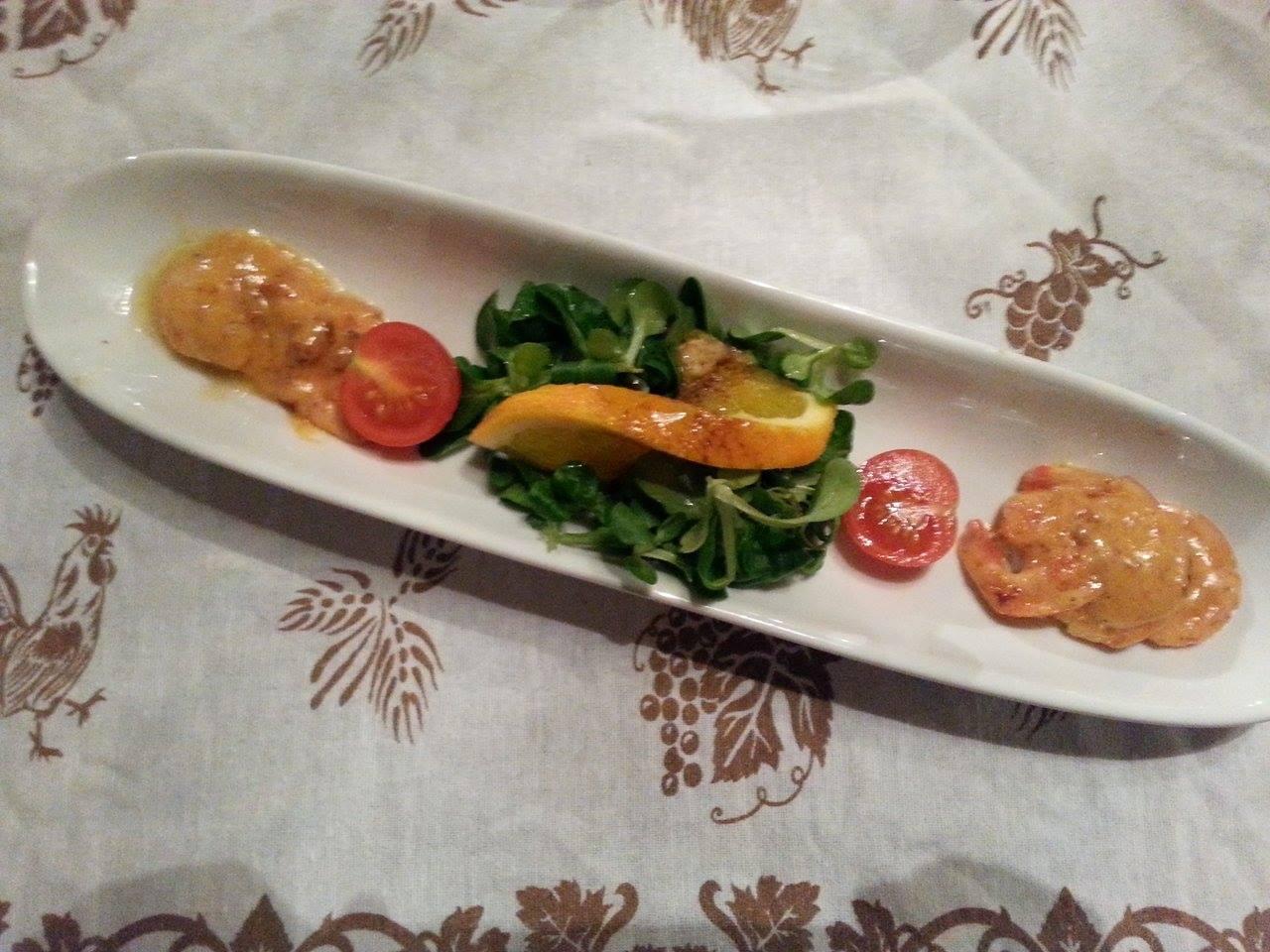 Antipasto di gamberi alla grappa
