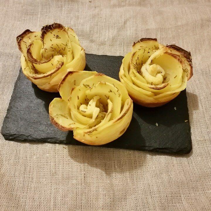 Rose di patate: aperitivo romantico