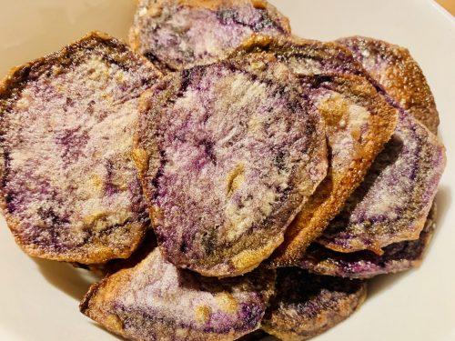 Chips di Patate Viola al forno- Senza Glutine, Senza Lattosio, Senza Nichel