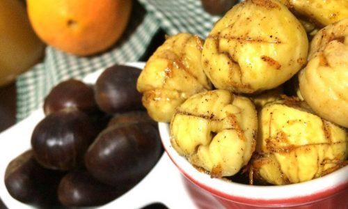 Castagne glassate al miele, cannella&scorza d'arancia