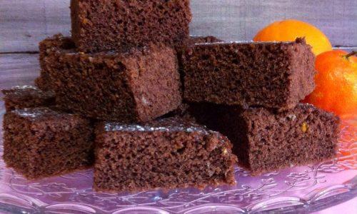 Torta all' acqua al cacao , arancia&mandarino