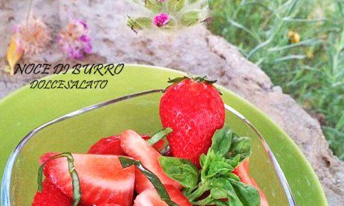 Fragole al thè verde e basilico