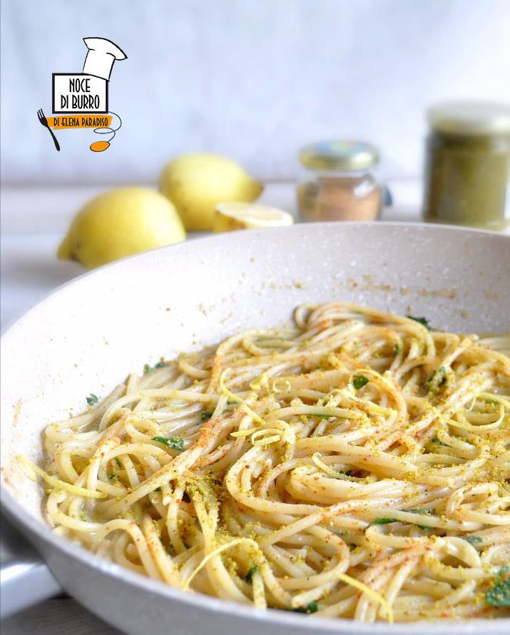 spaghetti risottati pistacchio e bottarga