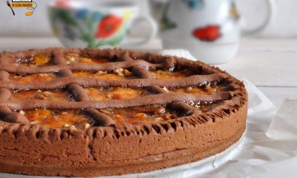 Crostata con confettura veloce al mandarino e noci