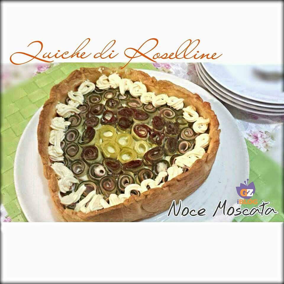 Quiche di ricotta con roselline di zucchina