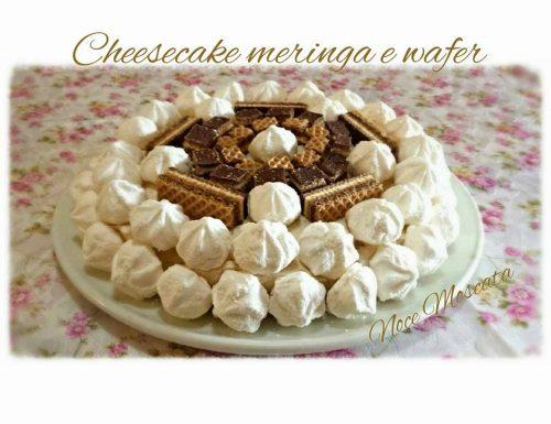 Cheesecake meringa e wafer