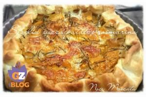 Torta rustica Zucca patate e rosmarino