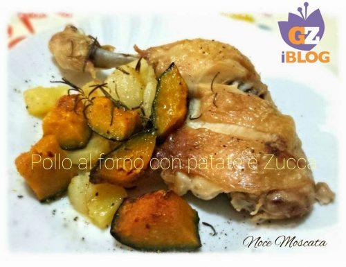 Pollo al forno con Patate e Zucca