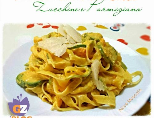 Fettuccine crema di zucca zucchine e parmigiano
