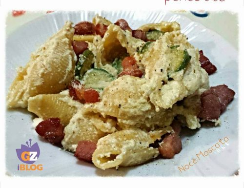 Conchiglioni ricotta zucchine e pancetta