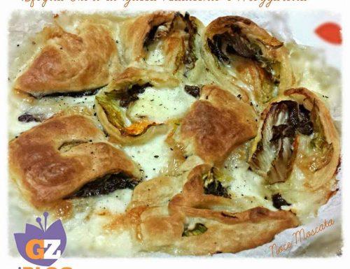 Sfoglia Fiori di zucca Radicchio e Mozzarella