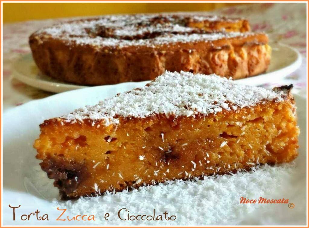 Torta Zucca e crema al cioccolato