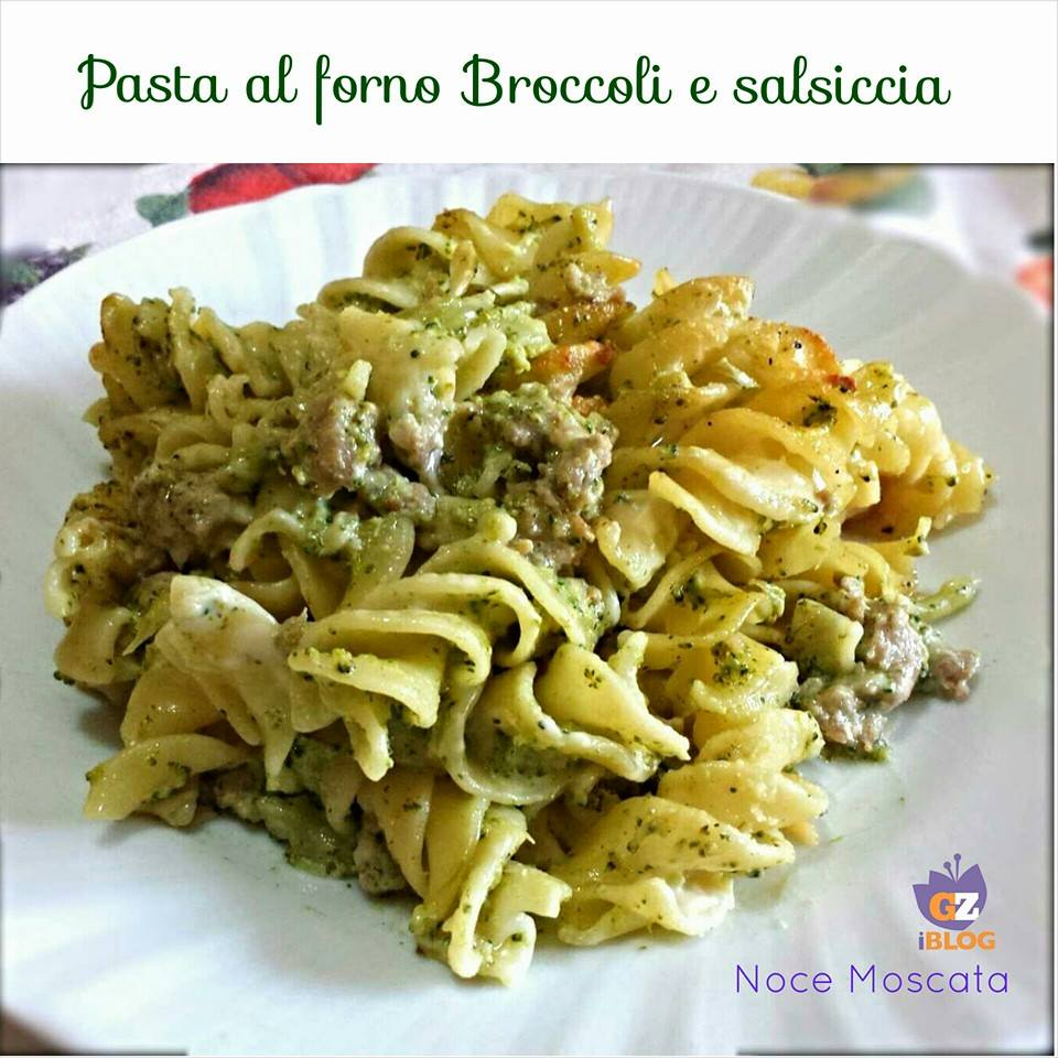 pasta al forno broccoli e salsiccia. Black Bedroom Furniture Sets. Home Design Ideas