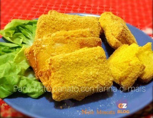 Pane fritto panato con farina di mais / Ricetta di recupero