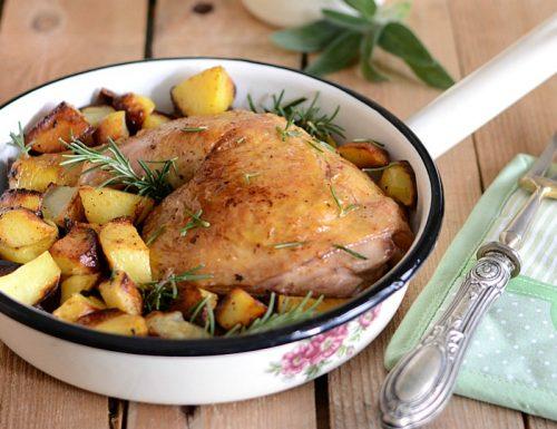 Pollo rosolato al vino in padella