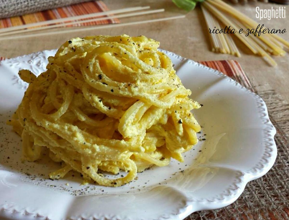 Spaghetti crema di ricotta e zafferano ricetta veloce for Secondi piatti romani