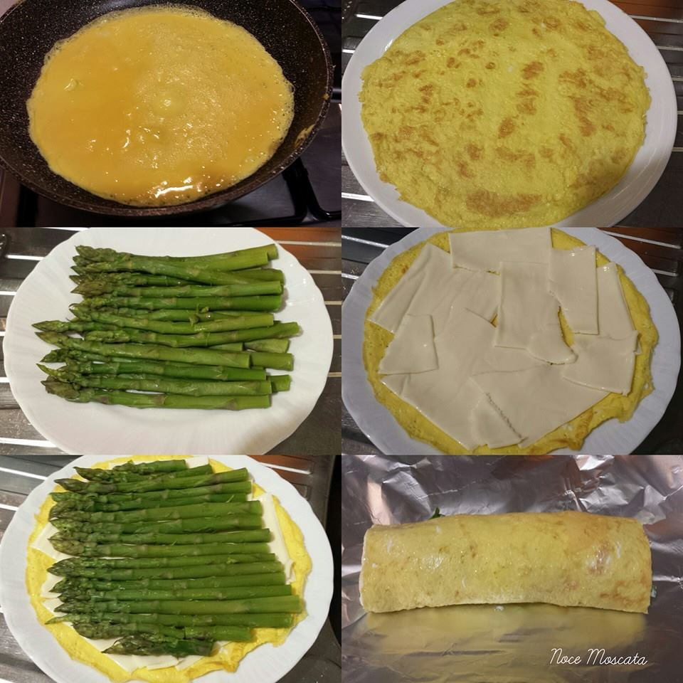 Rotolo di frittata agli asparagi