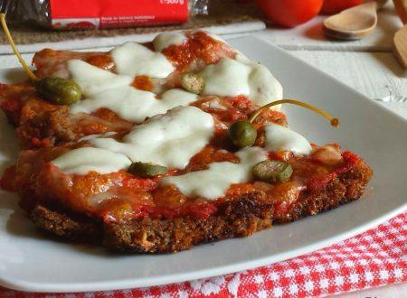 Pizza con pane di segale integrale