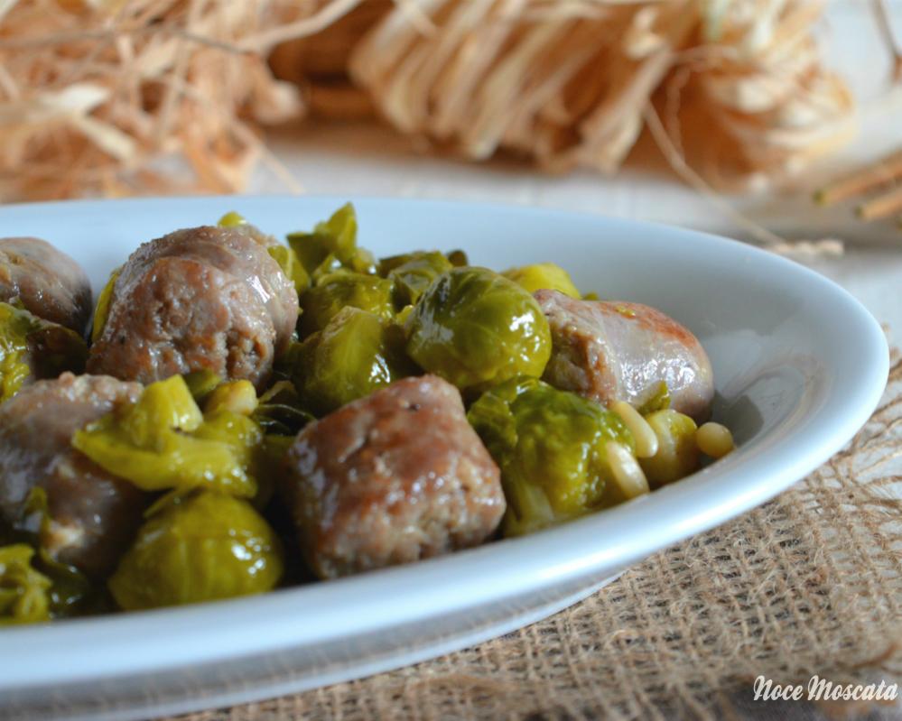 Cavoletti di bruxelles con salsiccia e pinoli - Cucina giallo zafferano ...