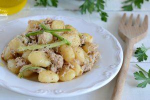 Gnocchi di patate tonno e zucchine