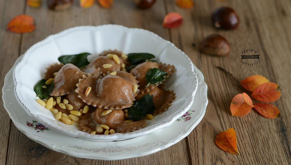 Ravioli di castagne con ricotta e pecorino