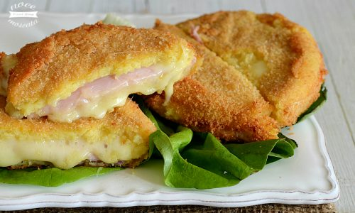 Medaglioni di patate con prosciutto cotto e formaggio
