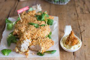 Petto di pollo croccante con panatura alle mandorle