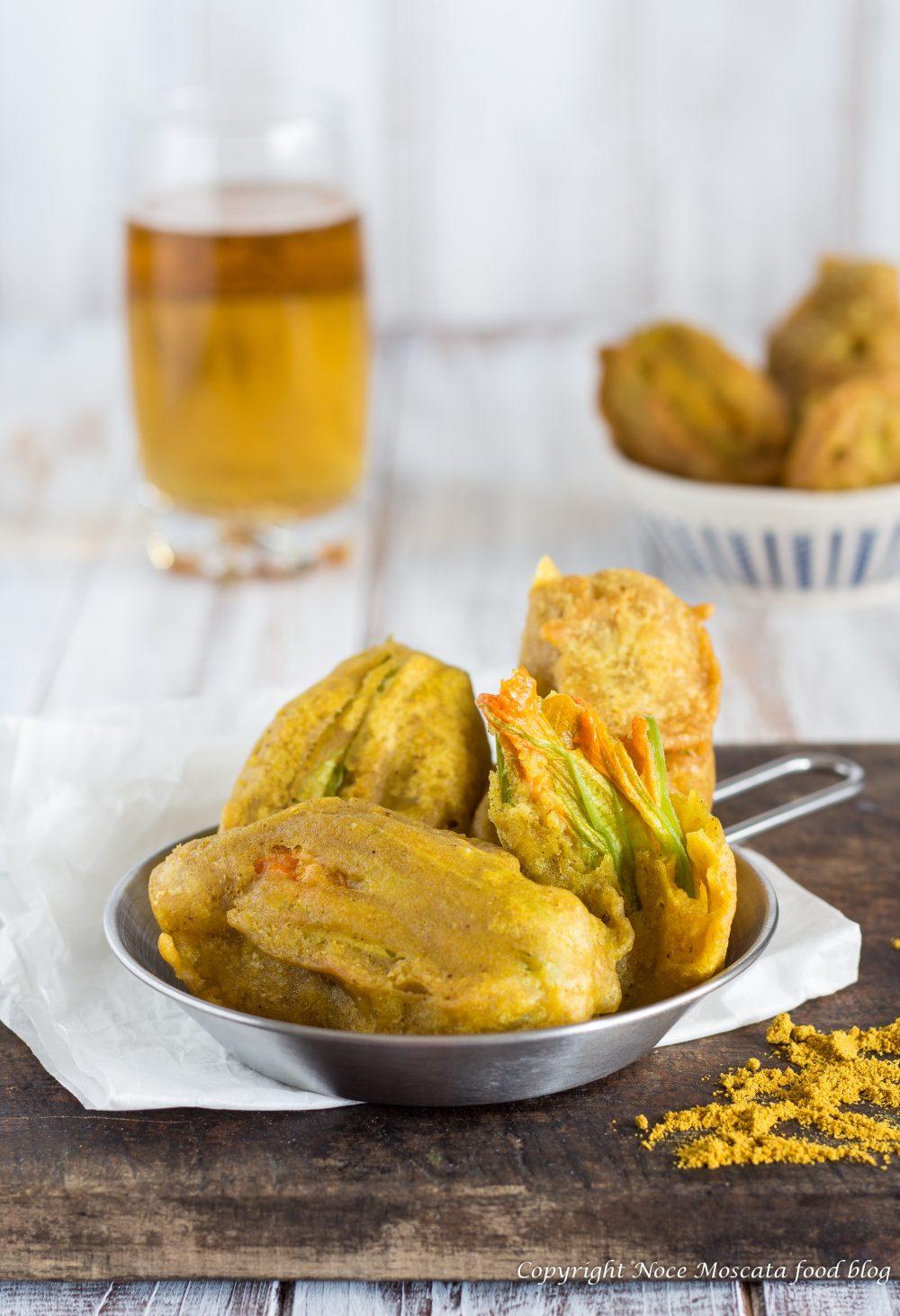 Fiori di zucca al curry