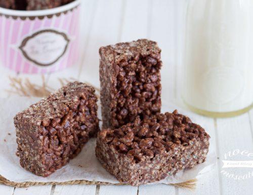 Barrette di riso soffiato e cioccolato