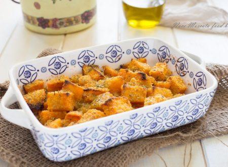 Zucca al forno gratinata con pangrattato e rosmarino