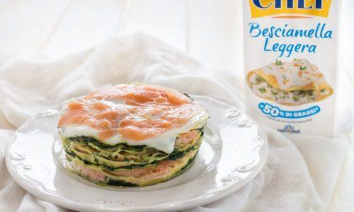 Lasagna crema di spinaci e salmone affumicato