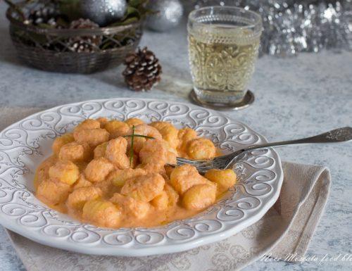 Gnocchi crema di gamberetti e brandy