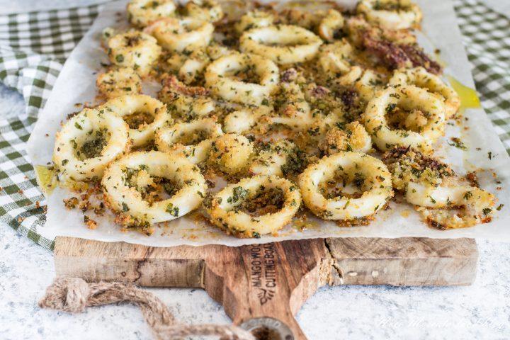 Anelli di calamaro al pangrattato e limone
