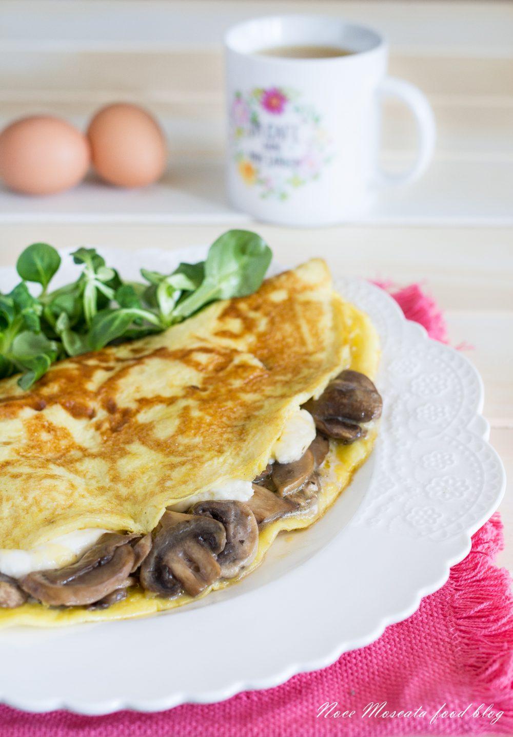 Omelette Funghi e Mozzarella
