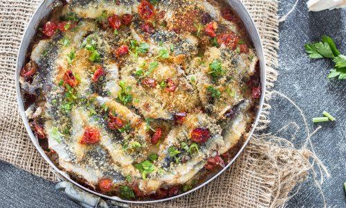 Sardine alla pizzaiola con il pangrattato