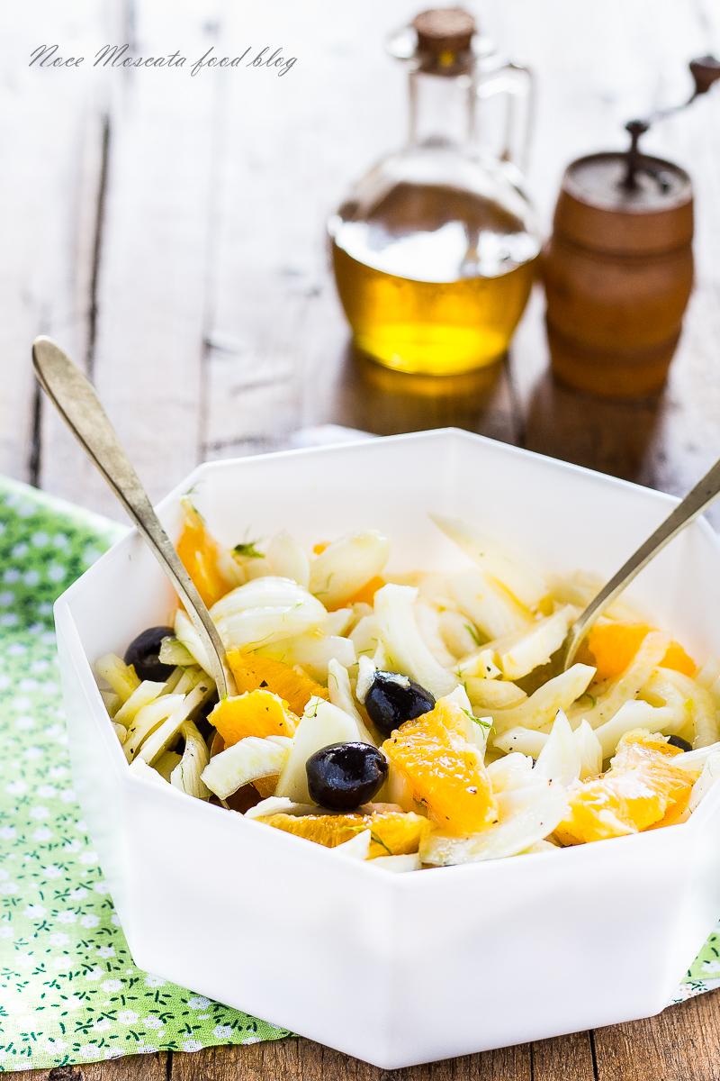 Insalata di Finocchi con Arance e Olive Nere