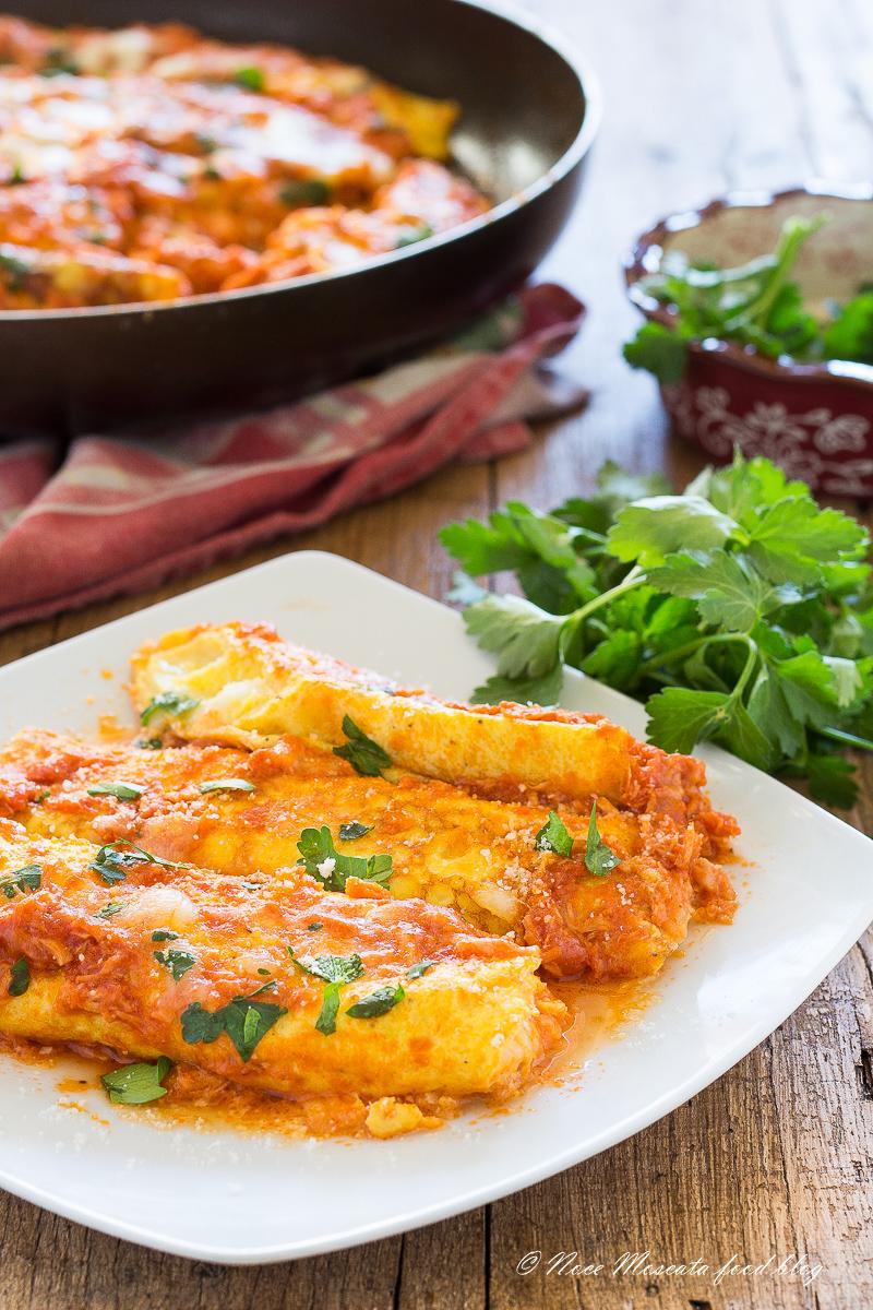 Omelette Pomodoro Tonno e Mozzarella