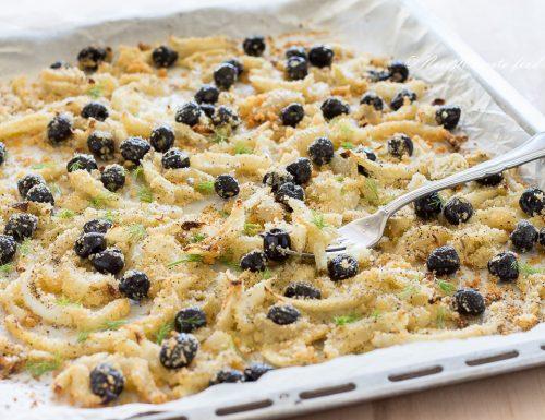 Finocchi al forno con olive e pangrattato