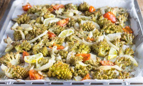 Broccolo al forno con finocchi