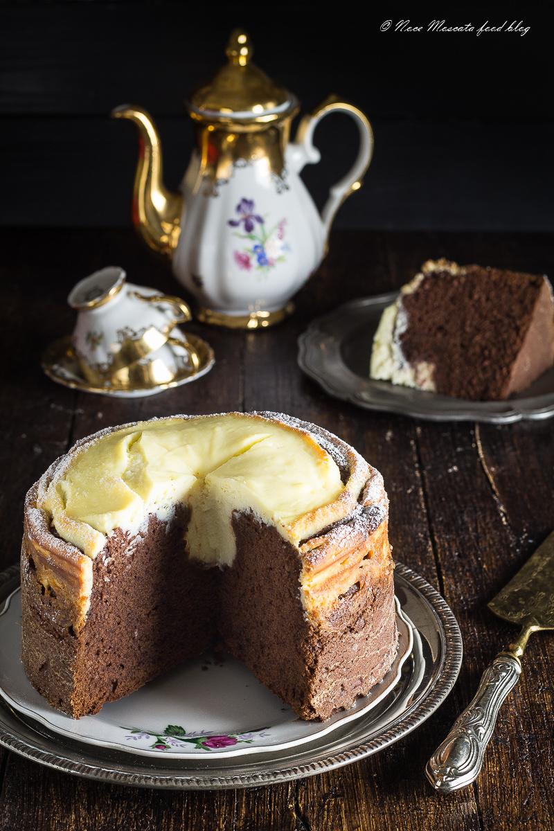 Torta Bicolore Ricotta e Cioccolato