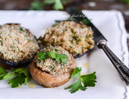 Funghi champignon ripieni gratinati