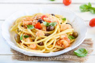 Bucatini olive e baccalà