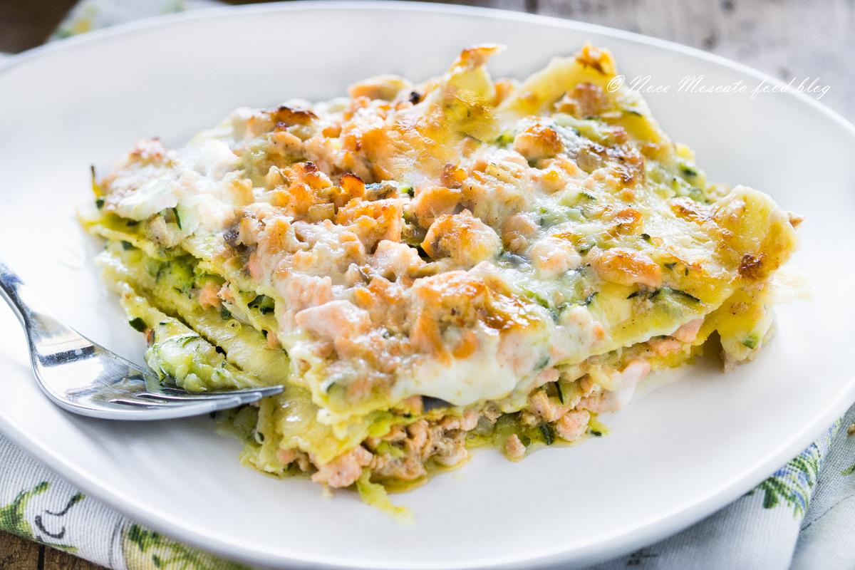 Lasagne zucchine e salmone
