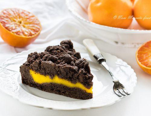 Sbriciolata al cioccolato con crema all'arancia