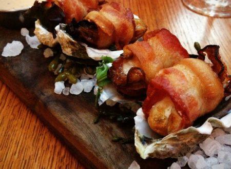 Involtini di ostriche e pancetta