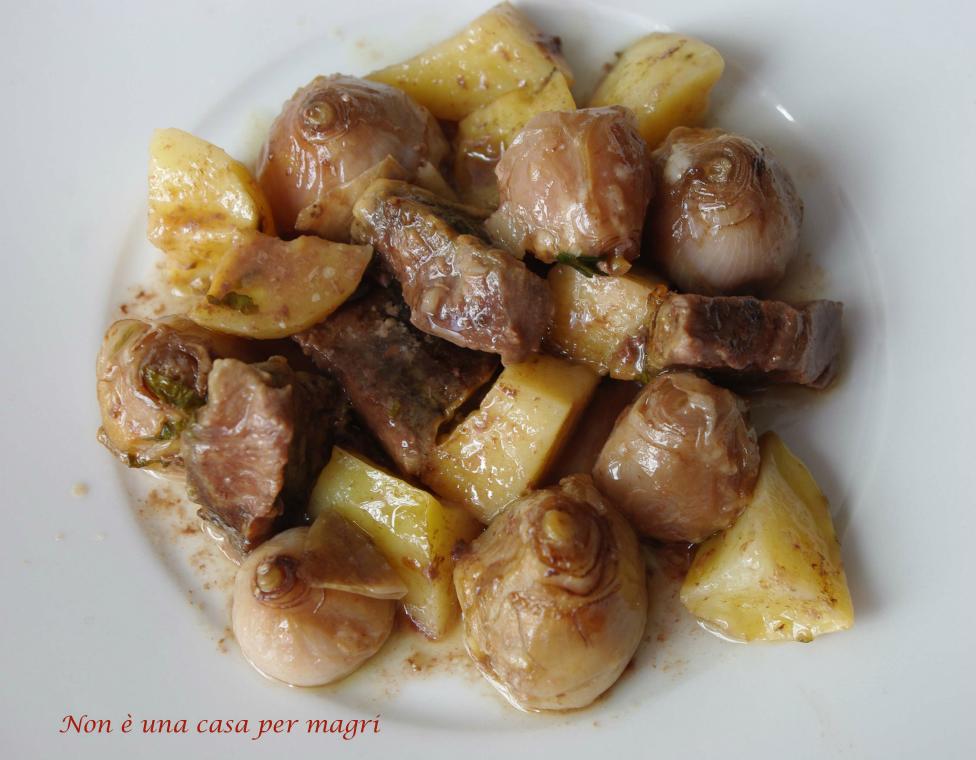 Lampascioni, bocconcini di manzo e patate