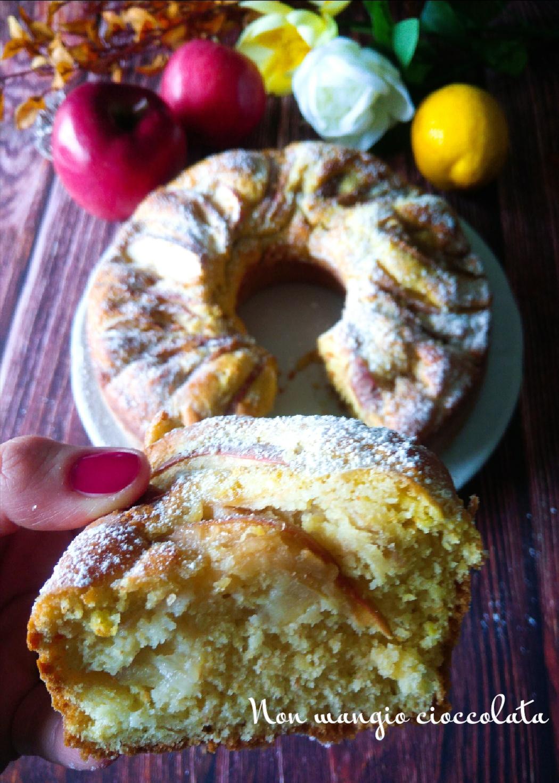 Ciambella alle mele con farina integrale, limone e zucchero di canna