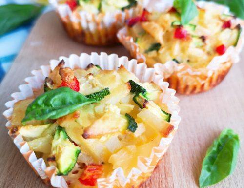 Frittatine di verdure e ricotta al forno