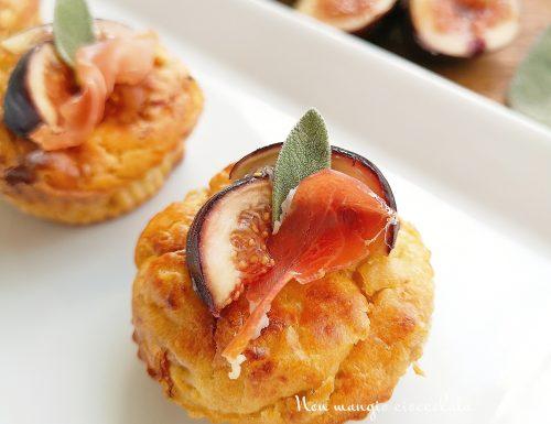 Muffin salati con fichi, prosciutto crudo e pecorino