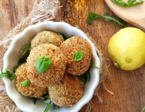 Polpette di baccalà e zucchine al profumo di limone